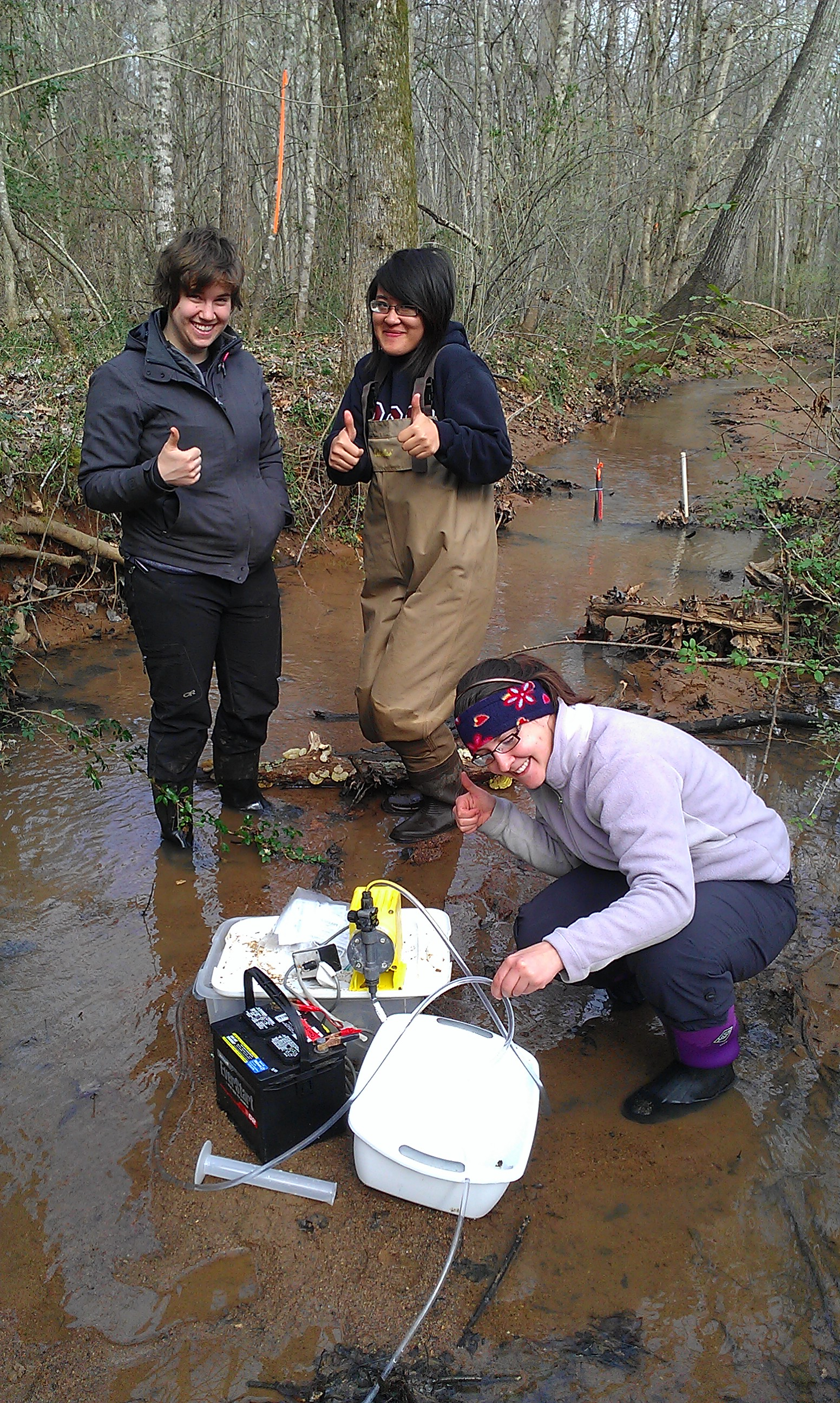 Spring Break: tracer injection in Beaver Dam Creek